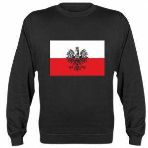 Sweatshirt Polish flag - PrintSalon