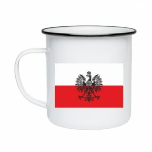Enameled mug Polish flag