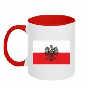 Two-toned mug Polish flag - PrintSalon