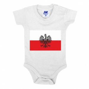 Baby bodysuit Polish flag