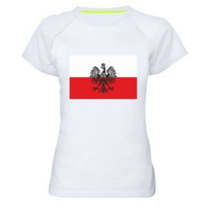 Women's sports t-shirt Polish flag