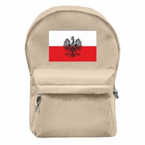 Backpack with front pocket Polish flag