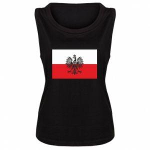 Women's t-shirt Polish flag - PrintSalon