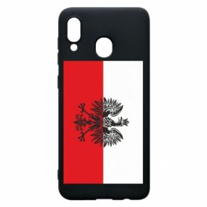 Samsung A30 Case Polish flag