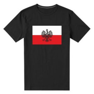 Men's premium t-shirt Polish flag - PrintSalon