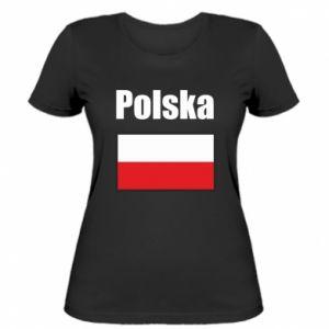 Koszulka damska Polska i flaga