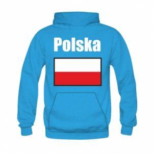 Bluza z kapturem dziecięca Polska i flaga