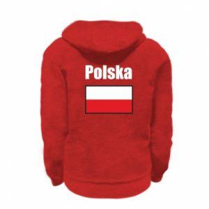 Bluza na zamek dziecięca Polska i flaga