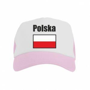 Czapka trucker dziecięca Polska i flaga