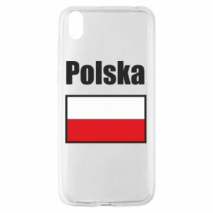 Etui na Huawei Y5 2019 Polska i flaga