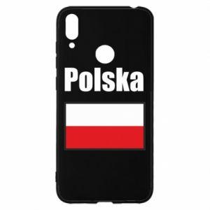Etui na Huawei Y7 2019 Polska i flaga