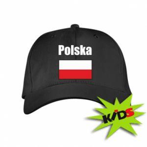 Czapeczka z daszkiem dziecięca Polska i flaga