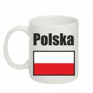 Kubek 330ml Polska i flaga