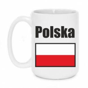 Kubek 450ml Polska i flaga