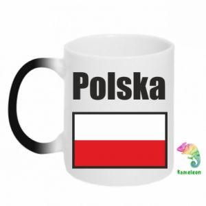 Kubek-kameleon Polska i flaga