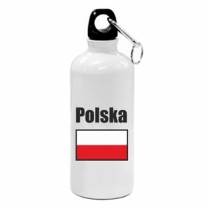 Bidon turystyczny Polska i flaga