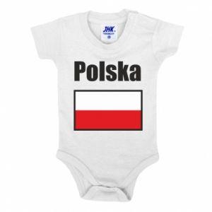 Body dziecięce Polska i flaga