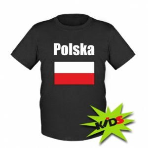 Kids T-shirt Poland and flag
