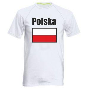 Koszulka sportowa męska Polska i flaga