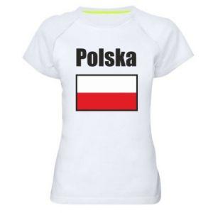 Koszulka sportowa damska Polska i flaga