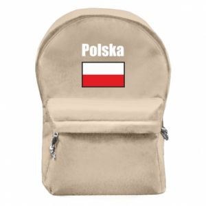 Plecak z przednią kieszenią Polska i flaga