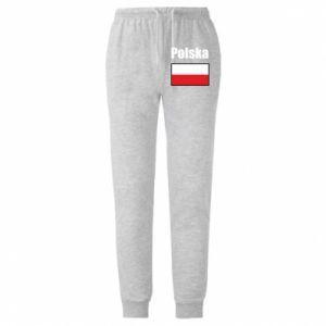 Spodnie lekkie męskie Polska i flaga