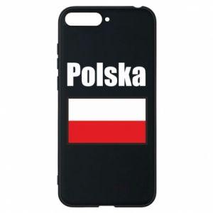 Etui na Huawei Y6 2018 Polska i flaga