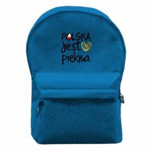 Plecak z przednią kieszenią Polska jest piękna