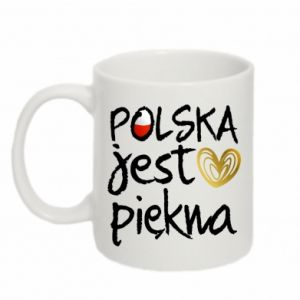 Kubek 330ml Polska jest piękna