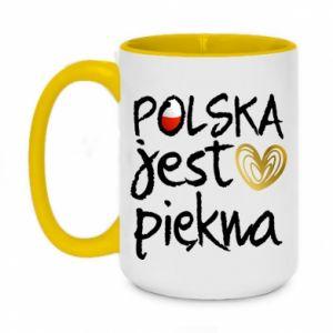 Kubek dwukolorowy 450ml Polska jest piękna