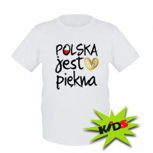 Koszulka dziecięca Polska jest piękna