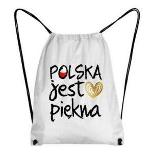 Plecak-worek Polska jest piękna