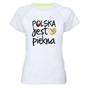 Koszulka sportowa damska Polska jest piękna