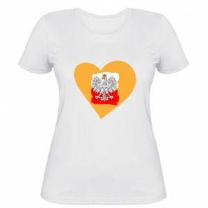 Damska koszulka Polska, kocham cię