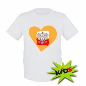 Dziecięcy T-shirt Polska, kocham cię