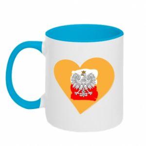 Kubek dwukolorowy Polska, kocham cię