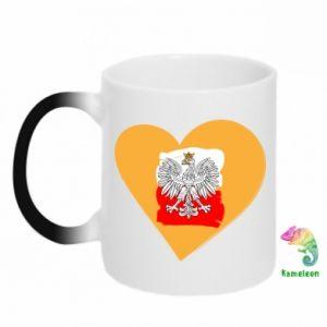 Kubek-kameleon Polska, kocham cię