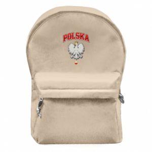 Plecak z przednią kieszenią Polska orzeł