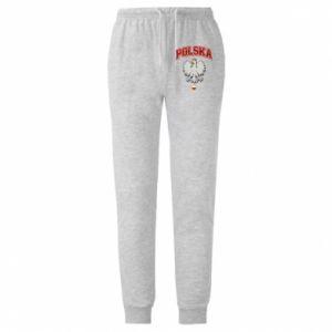 Spodnie lekkie męskie Polska orzeł