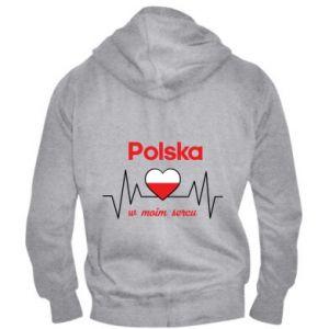 Men's zip up hoodie Poland in my heart - PrintSalon
