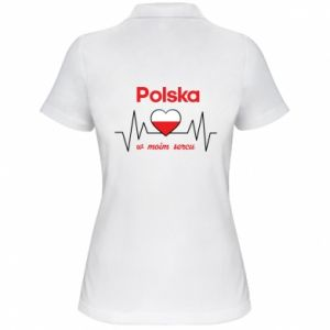 Women's Polo shirt Poland in my heart