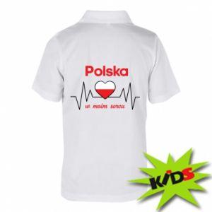 Koszulka polo dziecięca Polska w moim sercu
