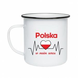 Kubek emaliowany Polska w moim sercu