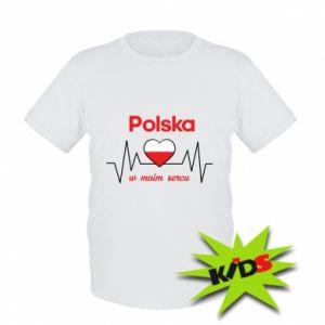 Dziecięcy T-shirt Polska w moim sercu