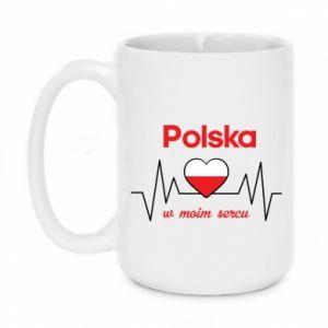 Mug 450ml Poland in my heart - PrintSalon