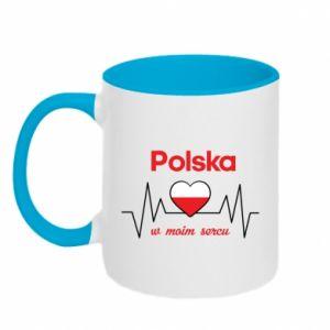Two-toned mug Poland in my heart - PrintSalon