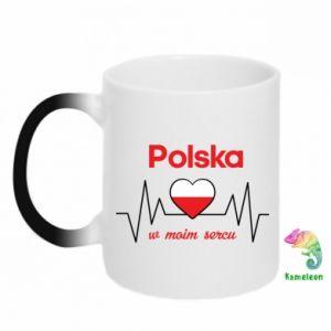 Kubek-kameleon Polska w moim sercu
