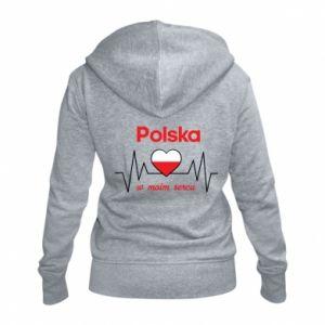 Women's zip up hoodies Poland in my heart - PrintSalon