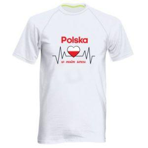 Koszulka sportowa męska Polska w moim sercu