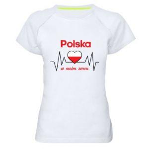 Koszulka sportowa damska Polska w moim sercu